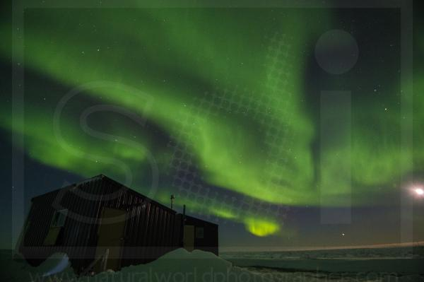 Northern Lights and Cabin