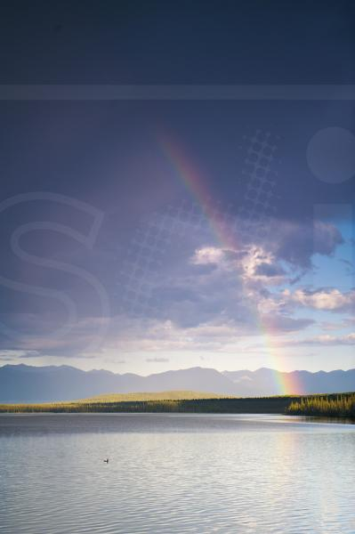 Willow Lake and Rainbow
